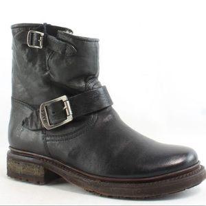 Frye Womens Valerie Shearling 6 Black Boots 75016